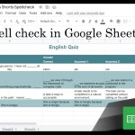 Google Sheets Beginners  – Spell Check(15)
