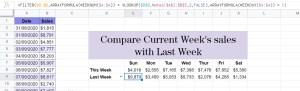 ARRAYFORMULA WEEKNUM FILTER WEEKDAY WEEKNUM VLOOKUP Google Sheets