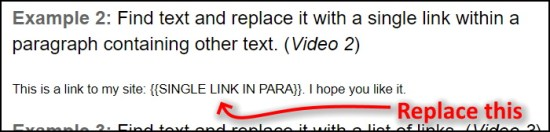 Find text within a paragraph and replace it with new text and a link DocApp Google Apps Script