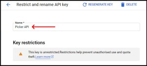 Apps Script Project Settings for GWAO Create API Key in Google Cloud Console 4