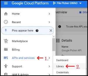 Apps Script Project Settings for GWAO Drive API 1