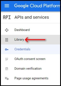 Apps Script Project Settings for GWAO GCP API Library