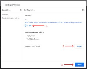 Apps Script Project Settings for GWAO New Deployment 3