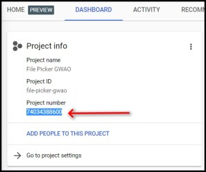 Find the project number for a GCP Google Cloud Project