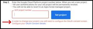 Google Apps Script GCP OAuth Consent screen warning