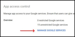Enable Admin SDK on Google Workspace Admin Console Manager Google Services