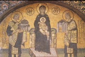 لوحة لمريم العذارء والمسيح