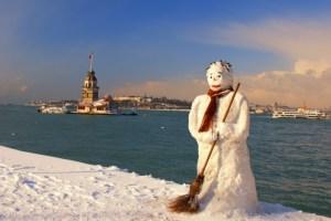 صورة للبرج في الشتاء