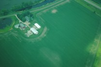 The same farm research site near DeForest as the one pictured in the SLR image slideshow