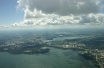 Lake Monona, looking down the lake chain toward Lakes Waubesa and Kegonsa