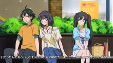 Hikigaya Hachiman (比企谷 八幡) refuses Yukinoshita Haruno (雪ノ下 陽乃) that he is not Yukino (雪乃)'s boyfriend. (Yahari Ore no Seishun Love Comedy wa Machigatteiru. Yahari Ore no Seishun Love Come wa Machigatteiru. Yahari Ore no Seishun Rabukome wa Machigatte Iru. Oregairu My Youth Romantic Comedy Is Wrong, as I Expected. My Teen Romantic Comedy SNAFU やはり俺の青春ラブコメはまちがっている。 俺ガイル 果然我的青春戀愛喜劇搞錯了。 ep6)