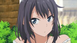Yukinoshita Haruno (雪ノ下 陽乃) still observes her sister and Hikigaya Hachiman (比企谷 八幡). (Yahari Ore no Seishun Love Comedy wa Machigatteiru. Yahari Ore no Seishun Love Come wa Machigatteiru. Yahari Ore no Seishun Rabukome wa Machigatte Iru. Oregairu My Youth Romantic Comedy Is Wrong, as I Expected. My Teen Romantic Comedy SNAFU やはり俺の青春ラブコメはまちがっている。 俺ガイル 果然我的青春戀愛喜劇搞錯了。 ep 6)