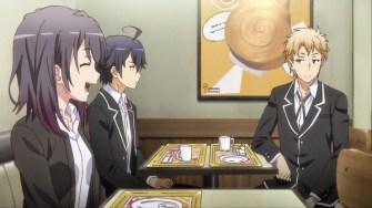 Hayama Hayato (葉山 隼人)'s anger was repelled by Yukinoshita Haruno (雪ノ下 陽乃)'s brimming smile like goddess. (Yahari Ore no Seishun Love Comedy wa Machigatteiru. Yahari Ore no Seishun Love Come wa Machigatteiru. Yahari Ore no Seishun Rabukome wa Machigatte Iru. Oregairu My Youth Romantic Comedy Is Wrong, as I Expected. My Teen Romantic Comedy SNAFU Yahari Ore no Seishun Love Comedy wa Machigatteiru. Zoku Yahari Ore no Seishun Love Come wa Machigatteiru. Zoku Oregairu Zoku My Teen Romantic Comedy SNAFU TOO! やはり俺の青春ラブコメはまちがっている。 やはり俺の青春ラブコメはまちがっている。続 俺ガイル 果然我的青春戀愛喜劇搞錯了。 果然我的青春戀愛喜劇搞錯了。續 ep3)