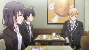 Hayama Hayato (葉山 隼人) can't Yukinoshita Haruno (雪ノ下 陽乃)'s shining smile. (Yahari Ore no Seishun Love Comedy wa Machigatteiru. Yahari Ore no Seishun Love Come wa Machigatteiru. Yahari Ore no Seishun Rabukome wa Machigatte Iru. Oregairu My Youth Romantic Comedy Is Wrong, as I Expected. My Teen Romantic Comedy SNAFU Yahari Ore no Seishun Love Comedy wa Machigatteiru. Zoku Yahari Ore no Seishun Love Come wa Machigatteiru. Zoku Oregairu Zoku My Teen Romantic Comedy SNAFU TOO! やはり俺の青春ラブコメはまちがっている。 やはり俺の青春ラブコメはまちがっている。続 俺ガイル 果然我的青春戀愛喜劇搞錯了。 果然我的青春戀愛喜劇搞錯了。續 anime ep 3)