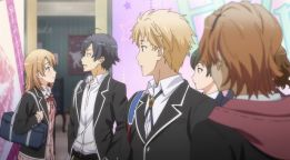 When Hayama Hayato (葉山 隼人) sees Isshiki Iroha (一色いろは) is invading his Re@lity M@rble. (Yahari Ore no Seishun Love Comedy wa Machigatteiru. Yahari Ore no Seishun Love Come wa Machigatteiru. Yahari Ore no Seishun Rabukome wa Machigatte Iru. Oregairu My Youth Romantic Comedy Is Wrong, as I Expected. My Teen Romantic Comedy SNAFU Yahari Ore no Seishun Love Comedy wa Machigatteiru. Zoku Yahari Ore no Seishun Love Come wa Machigatteiru. Zoku Oregairu Zoku My Teen Romantic Comedy SNAFU TOO! やはり俺の青春ラブコメはまちがっている。 やはり俺の青春ラブコメはまちがっている。続 俺ガイル 果然我的青春戀愛喜劇搞錯了。 果然我的青春戀愛喜劇搞錯了。續 ep 4)