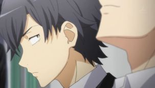 Hikigaya Hachiman (比企谷 八幡) is watching Hayama Hayato (葉山 隼人)'s expression while he finally found the conclusion of his love story. (Yahari Ore no Seishun Love Comedy wa Machigatteiru. Yahari Ore no Seishun Love Come wa Machigatteiru. Yahari Ore no Seishun Rabukome wa Machigatte Iru. Oregairu My Youth Romantic Comedy Is Wrong, as I Expected. My Teen Romantic Comedy SNAFU Yahari Ore no Seishun Love Comedy wa Machigatteiru. Zoku Yahari Ore no Seishun Love Come wa Machigatteiru. Zoku Oregairu Zoku My Teen Romantic Comedy SNAFU TOO! やはり俺の青春ラブコメはまちがっている。 やはり俺の青春ラブコメはまちがっている。続 俺ガイル 果然我的青春戀愛喜劇搞錯了。 果然我的青春戀愛喜劇搞錯了。續 Ep 4)