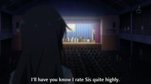 Yukinoshita Yukino (雪ノ下 雪乃) sees Yukinoshita Haruno (雪ノ下 陽乃) only. (Yahari Ore no Seishun Love Comedy wa Machigatteiru. Yahari Ore no Seishun Love Come wa Machigatteiru. Yahari Ore no Seishun Rabukome wa Machigatte Iru. Oregairu My Youth Romantic Comedy Is Wrong, as I Expected. My Teen Romantic Comedy SNAFU やはり俺の青春ラブコメはまちがっている。 俺ガイル 果然我的青春戀愛喜劇搞錯了。 anime ep 12)
