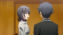 Hikigaya Hachiman (比企谷 八幡) Yukinoshita Haruno (雪ノ下 陽乃) (Yahari Ore no Seishun Love Comedy wa Machigatteiru. Zoku ep4)