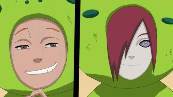 Яхико и Нагато в костюме жаб на сайте про Яхико