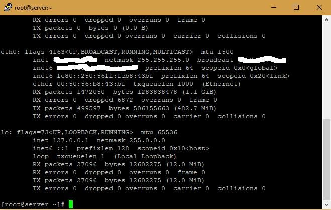CentOS Sabit IP ve DNS Ayarları
