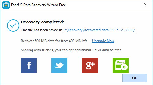EaseUS Data Recovery Software Wizard Free