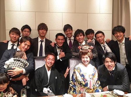 清武選手の結婚式の様子