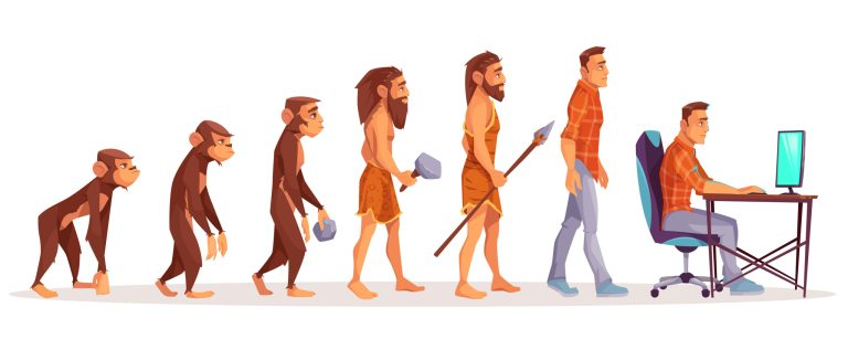Evolution from ape to Yaka Game Studio