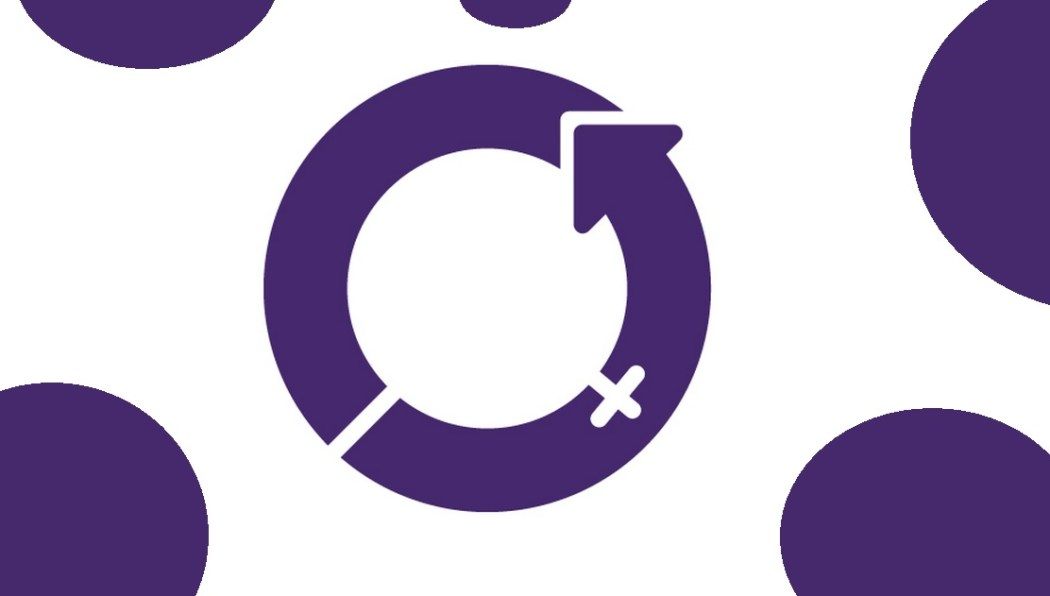 International Women's Day logo in purple