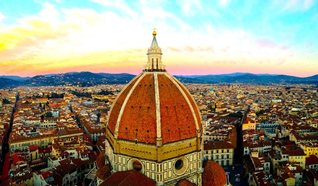 The Duomo Cathedral's dome in Florence, Italy