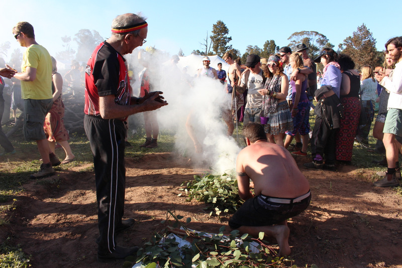 The Wiradjuri smoking ceremony. PHOTO by Alfred Pek.