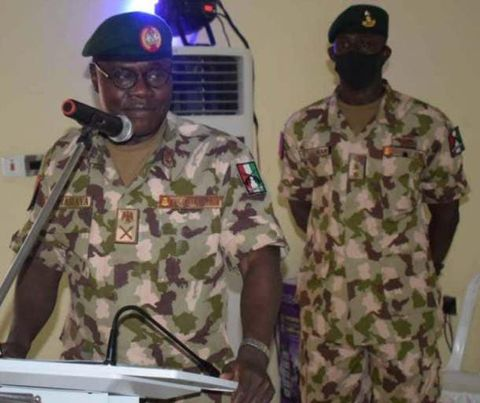 New Chief Army staff picture. Major General Faruk Yahaya picture.
