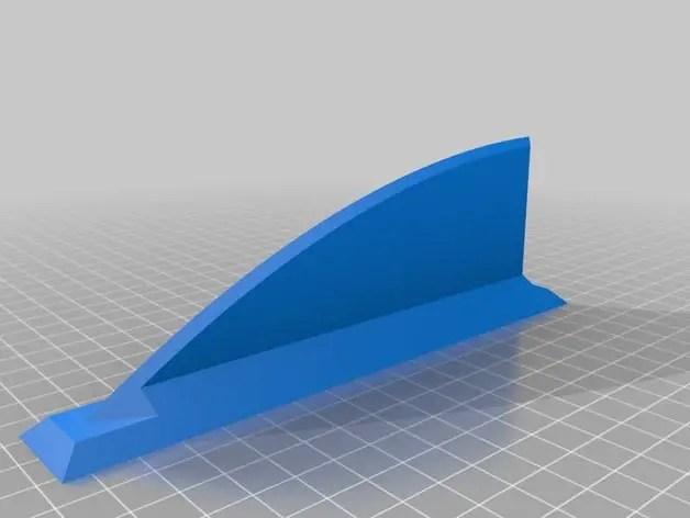 3D printed Skeg Fin