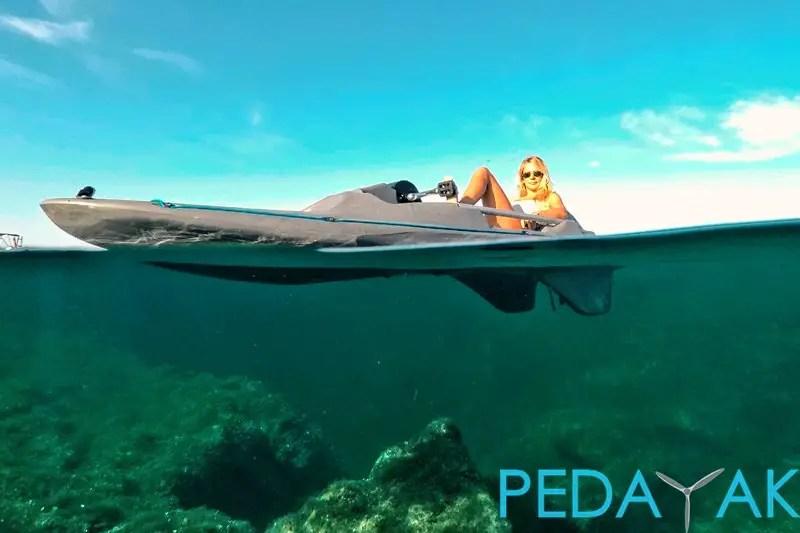 Pedayak Half Underwater