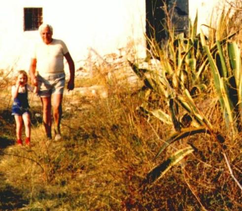 Mit Opa Hans 1974