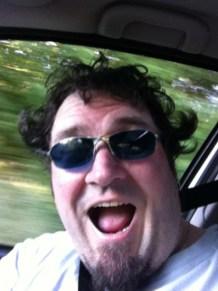Selfie auf dem Weg nach Hause