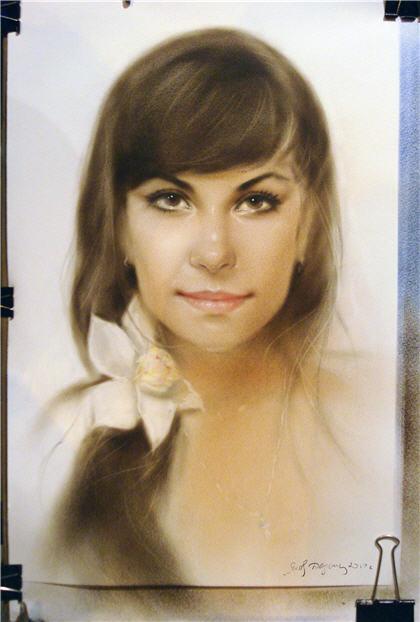 Заказать портрет с натуры маслом на холсте , в технике ...
