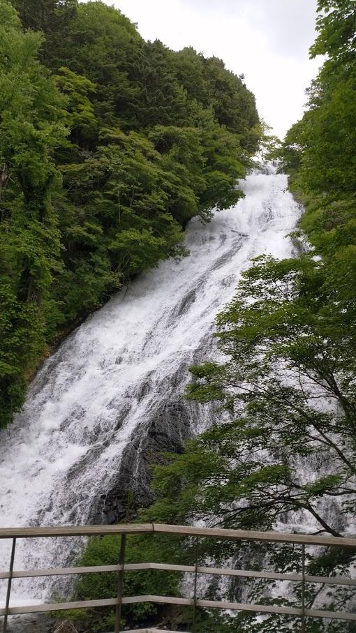 湯滝 観瀑台から見た