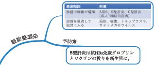 母子感染 経胎盤感染 AIDs B型肝炎 サイトメガロウイルス トキソプラズマ
