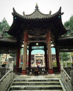 Traditional Chinese architure in Xi'an Great Mosque