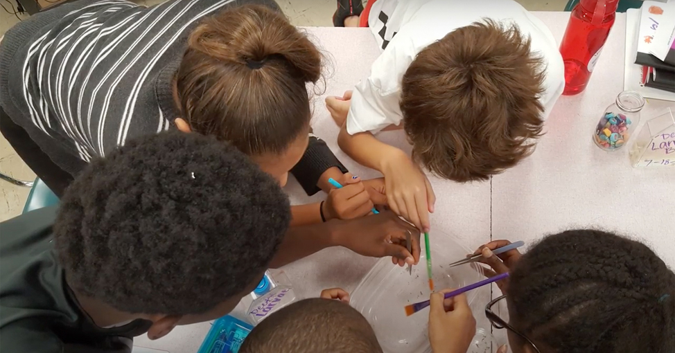 Children working on project