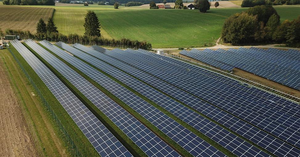 Farmland with solar