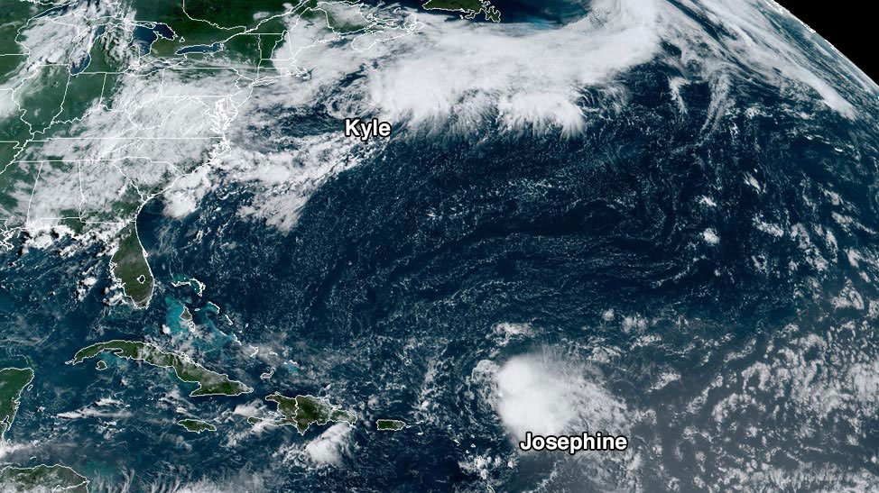 Kyle and Josephine satellite image