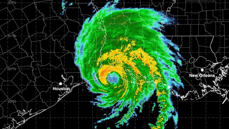 Radar image Hurricane Laura