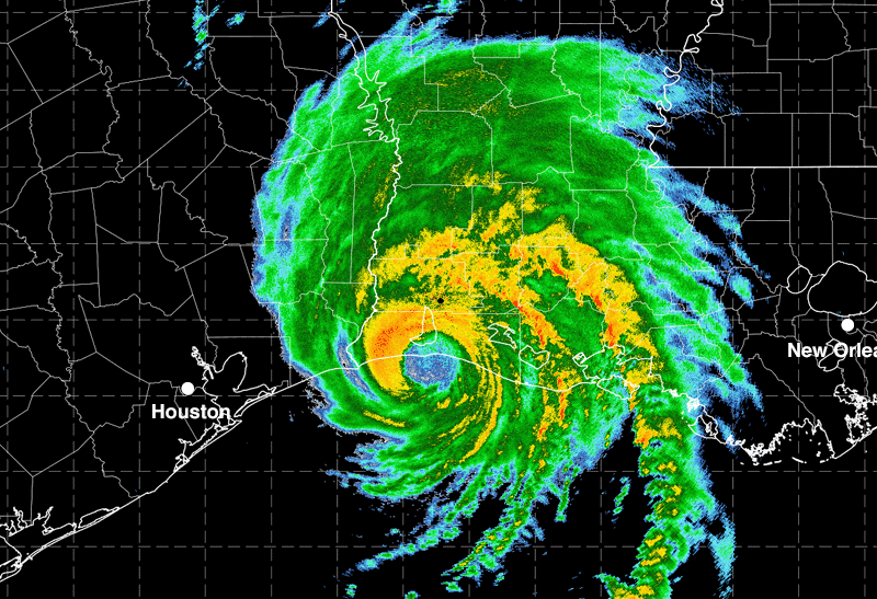 Radar image Hurricane Laura