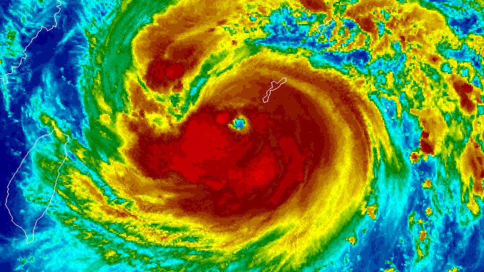 Infrared image of Maysak