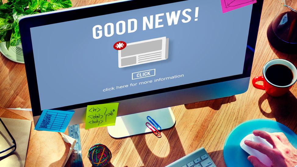 Good news sign