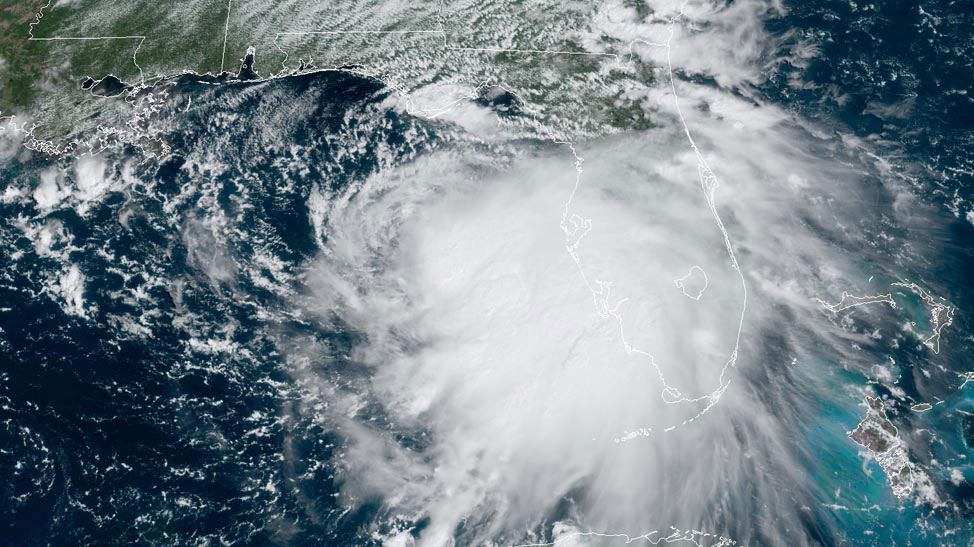 Sally satellite image