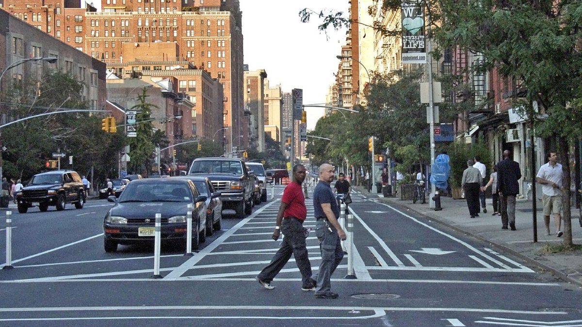 Pedestrians walking on street