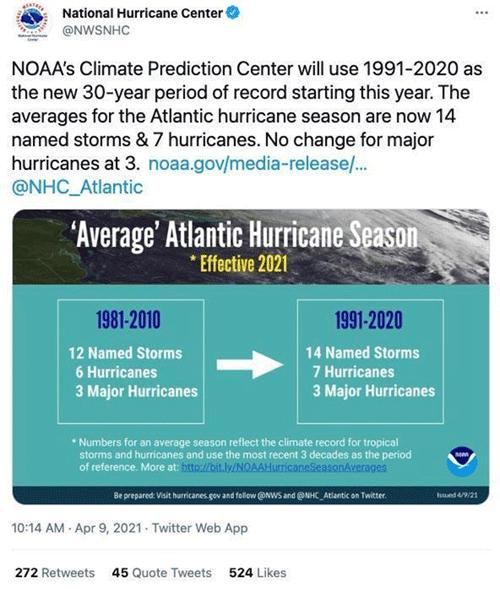 National Weather Service tweet