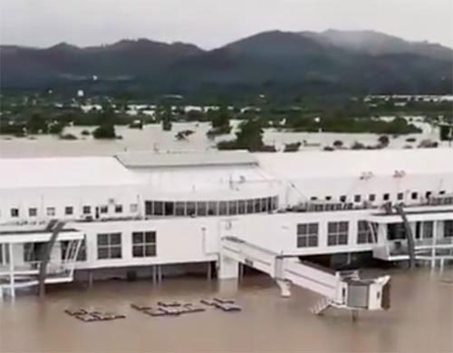 Flooding at San Pedro Airport